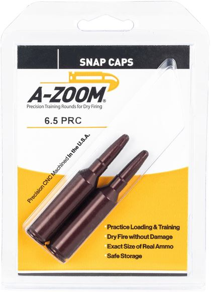 Picture of A-Zoom Precision Metal Snap Caps, Rifle - 6.5 PRC, 2/Pack