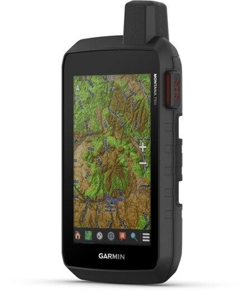 """Picture of Garmin, Satellite GPS Communicator, Navigation - Montana 750i, 5"""" Color Touch Screen, 8 MP Camera, Interactive SOS via inReach Technology, 3 Axis Compass & Barometric Altimeter, IPX7 Water Rating, 18 Hrs GPS Mode, 2 Weeks Expedition Mode"""