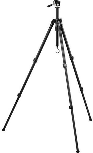 """Picture of Vortex Optics Accessories - High Country II Aluminum Tripod, 10.8"""" - 62.25"""", Folded Height: 24.4"""", Pan Head, 3.8 pounds, Inc. QD Plate, Packing Strap, Counterweight Hook & Carry Case"""