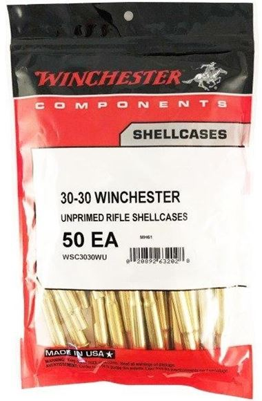Picture of Winchester Components, Cases, Rifle Shellcases - 30-30 Win, Unprimed Rifle Shellcases, 50/Bag