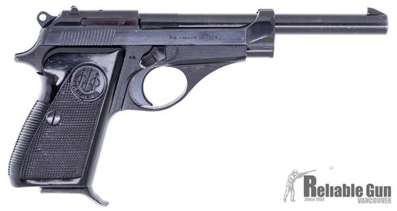 "Picture of Beretta 71 Surplus Semi-Auto Pistol - 22 LR, 6"", (152mm), Fixed Sights, Black Plastic Grips,1 Magazine, Good Condition"