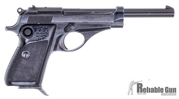 "Picture of Beretta 71 C.B.S Surplus Semi-Auto Pistol - 22 LR, 6"", (152mm), Fixed Sights, Cross Bolt Safety, Black Plastic Grips,1 Magazine, Good Condition"