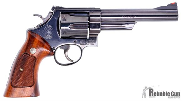 "Picture of Used Smith & Wesson Model 29-2 Double-Action 44 mag, 6"" Barrel, Wood Grips, Pinned Barrel, Recessed Cylinder,1981 Vintage, Excellent Condition"