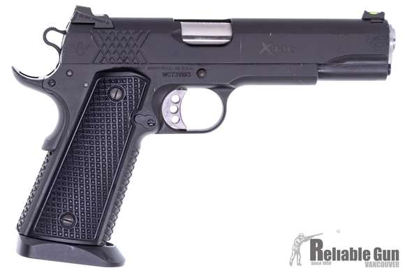 Picture of Used Wilson Combat XTAC 1911 Pistol - 45 ACP, 16x Magazine, Magwell, Original Bag. Good Condition