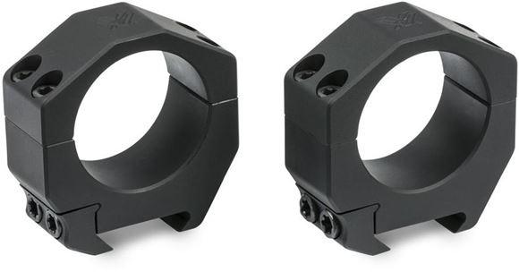 """Picture of Vortex Optics, Riflescope Rings -  Precision Series PMR Rings, Aluminum, 34mm, Medium Plus (1.1"""") 27.9mm, Matte Black"""