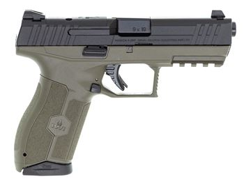 "Picture of IWI Masada 9 Optic Ready SA Semi-Auto Pistol OD Green - 9mm, Cold Hammer Forged Barrel, 4.25"", 1:10 RH, OD Green Polymer, Steel Slide, Optic Ready, 2x10rds, Inc. Backstraps"
