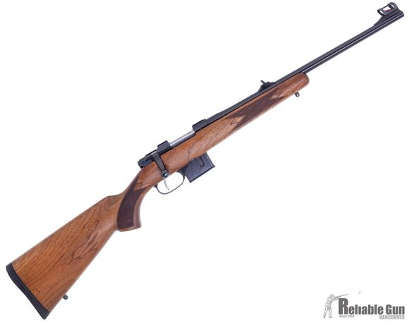 """Picture of Used CZ 527 Carbine Bolt Action Rifle - 7.62x39mm, 18.5"""", Hammer Forged, Blued, Oil Finished Straight Line Comb Carbine Walnut Stock, 5rds, Adjustable Single Set Trigger, Fixed Sights, Exc Condition"""
