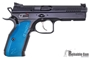 Picture of Used CZ Shadow 2 Black/Blue Semi Auto Pistol, 9mm, 3 mags, Original Case, Excellent Condition
