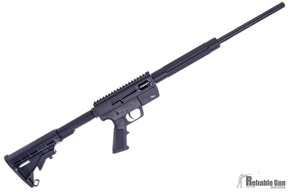 "Picture of Just Right Carbines (JR Carbine) Glock Magazine Takedown Model Semi-Auto Carbine - 9mm, 18.6"", Threaded, Black, 6061T-6 Aluminum w/Hardcoat Anodizing Receiver, Telescoping 6-Position Collapsible M-4 Style Buttstock, Glock Mag, 10rd"
