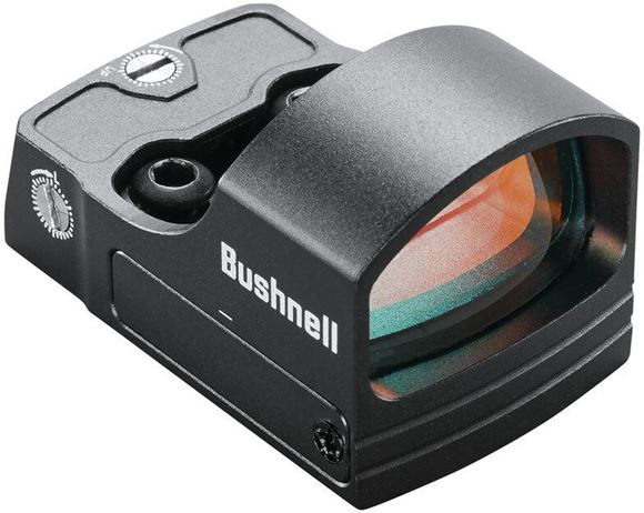 Picture of Bushnell Electro-Optics Red Dots -  RXS-100 Reflex Sight, Matte, 4 MOA Red Dot, 1 MOA Detent Windage/Elevation, Waterproof/Fogproof/Shockproof, 5000 hrs at Mid Setting, Deltapoint Footprint, Pistol/Rifle/Shotgun Compatible