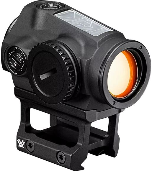 Picture of Vortex Optics, SPARC SOLAR Red Dot - DRT (MOA) Reticle, 1/2 MOA Adjustment, 12 Variable Illumination Settings, NV Compatible, Auto D-TEC Switching from Battery to Solar, Matte Black, Shockproof