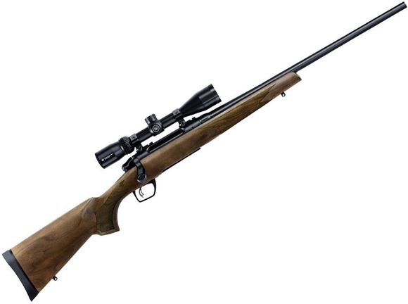 """Picture of Remington Model 783 Walnut Bolt Action Rifle - 300 Win Mag, 24"""", Carbon Steel, Blued, American Walnut Stock, 3rds, CrossFire Adjustable Trigger, w/3-9x40mm Scope"""