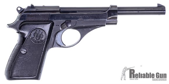 """Picture of Used Beretta Model 75 Single Action Semi-Auto Pistol - 22 LR, 6"""", (152mm), Blued, Polymer Grips, 1 Magazine, Fixed Sights, Thumb Lever Safety, Good Condition"""