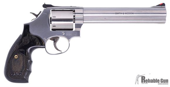 """Picture of Used Smith & Wesson 686-6 Revolver, .357 Mag, 7-Shot, 7"""" Stainless, Unfluted Cylinder, Full Underlug, Laminate Grip, Excellent Condition"""
