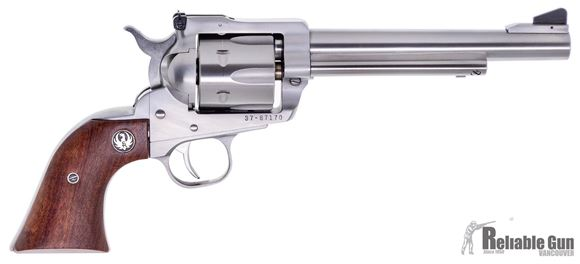 """Picture of Used Ruger New Model Blackhawk Single Action Revolver, 357 Mag, 6-Shot, 6.5"""" Stainless, Rosewood Grip, Excellent Condition"""
