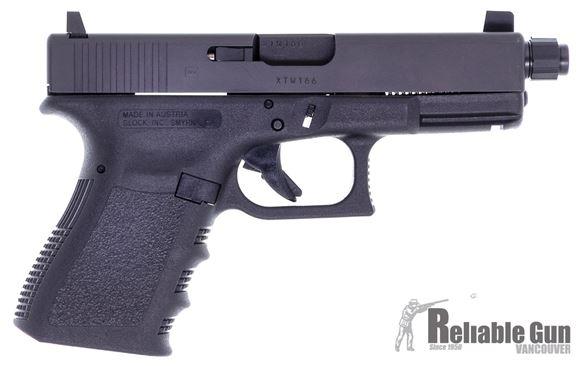 Picture of Used Glock 19 Gen 3 Semi Auto Pistol, 9mm, 4.5'' Threaded Barrel, 2 Magazines, Supressor Sights, Original Box, Excellent Condition