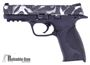 """Picture of Used Smith & Wesson (S&W) M&P9 Striker Fire Action Semi-Auto Pistol - 9mm, 4-1/4"""" Barrel, Custom Painted Slide, 2 Magazines, Good Condition, Original Box"""