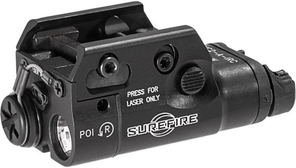 Picture of SureFire Weapon Light - XC2-A, Ultra-Compact LED Handgun Light & Red Laser, 300 Lumens, Black, 0.5 Hrs Runtime, Mil-Spec Hard Anodized Aluminum, Ambidextrous