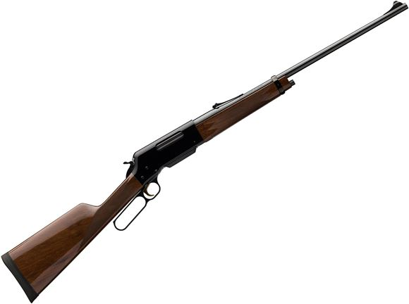 """Picture of Browning BLR Lightweight '81 Lever Action Rifle - 243 Win, 20"""", Sporter Contour, Gloss Blued, Gloss Black Walnut Stock w/Straight Grip & Forearm, 4rds, Fully Adjustable Rear Sights"""