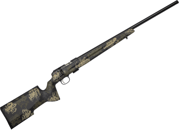 "Picture of CZ 457 Varmint Precision Trainer Suppressor Ready Bolt Action Rimfire Rifle - 22 LR, 16.5"" Heavy Barrel, 1:16"", Cold Hammer Forged, Threaded, Manners Composite Camo Stock, No Sights, 5rds"