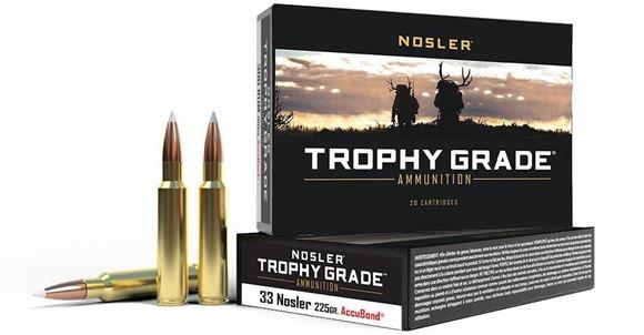 Picture of Nosler Trophy Grade Rifle Ammo - 33 Nosler, 225Gr, AccuBond, 20rds Box