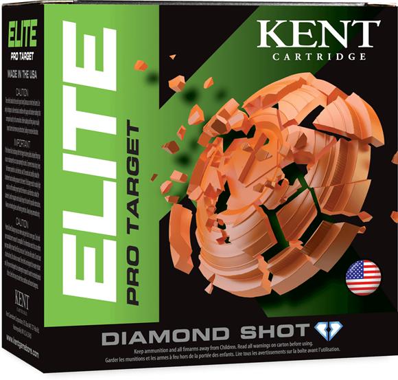 "Picture of Kent Elite Pro Target Shotgun Ammo - 12Ga, 2-3/4"", 1oz, #8, 250rds Case, 1290fps"