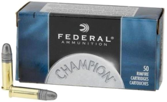 Picture of Federal Champion 22 LR 40Gr solid, Standard Velocity, 500rds Brick