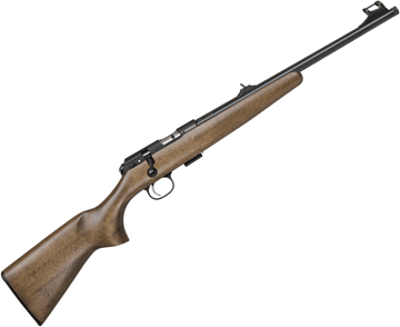 "Picture of CZ 457 Scout Rimfire Bolt Action Rifle - 22 LR, 16"" Barrel, Threaded, Blued, Youth LOP Beechwood Stock, Single-Shot Magazine, w/Sights"