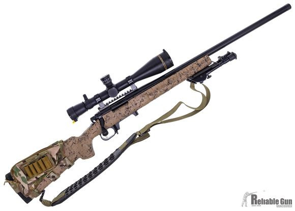 """Picture of Used Remington 700 5-R Gen 2 Milspec Bolt-Action 6.5 Creedmoor, 24"""", With Leupold VX3i LRP 6.5-20x50mm Scope, TriggerTech Trigger, Harris Bipod, Mag Conversion with 2 Magpul AICS Mags, Pelican 1750 Case, Very Good Condition"""