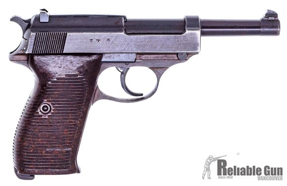 Picture of Used Walther P38 Semi-Auto 9mm, 1944 Mfg., Waffenampts Intact, One Mag, Good Condition
