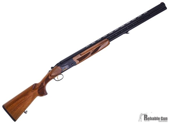 """Picture of Used Canuck Over/Under Shotgun - 12ga, 3"""", 28"""", Vented Rib, Black Steel Receiver, Walnut Stock w/ Schnabel Fore-end, Mobil Choke Flush (C,IC,IM,M,F)"""