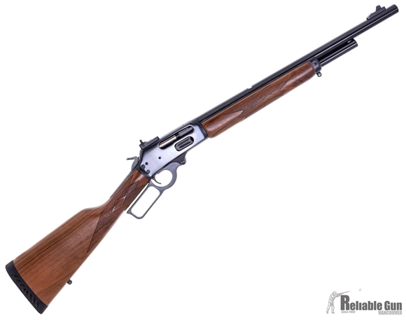 Picture of Used Marlin 1895G Lever Action Rifle, 45-70 Govt, 18'' Blued Barrel, Walnut Stock, XS Ghost Ring Sight, Excellent Condition