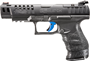 """Picture of Walther PPQ Q5 Match Optic Ready Semi-Auto Pistol - 9mm, 5"""", Polymer Frame, Quick Defense Trigger, Adjustable Rear & Red Fiber Optic Front Sight, Black, 3x10rds, Optic Ready"""