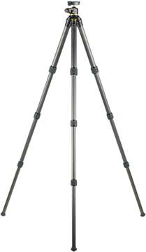 """Picture of Leupold Tripods, Optic Accessories - Pro Guide CF-436 Tripod Kit, 3 Section Legs, 32mm Carbon Fiber Legs, Ball Head, Twist Lock Leg Adjustment, Arca-Swiss Plate Compatability, 4 lbs, 67"""" Extended - 22"""" Collapsed, Black/Shadow Tan"""