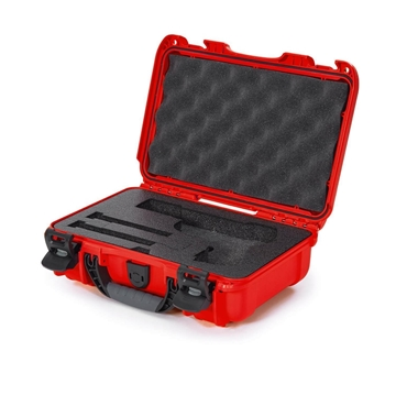 """Picture of Nanuk Professional Protective Cases - Classic Single Pistol Case, Pre-cut Foam, Waterproof & Impact Resistant, 12.64"""" x 9"""" x 4.38"""", Red"""