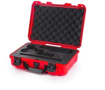 """Picture of Nanuk Professional Protective Cases - Classic Double Pistol Case, Pre-cut Foam, Waterproof & Impact Resistant, 14.3"""" x 11.1"""" x 4.7"""", Red"""