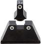 Picture of Trijicon Iron Sights, Trijicon Bright & Tough Night Sights (Suppressor Series) - Glock, GL201-C-600650, Glock Bright & Tough Night Sight Suppressor Set, White Front w/Green Lamp & White Rear w/Orange Lamp, Fits Glock Models 17/17L/19/22/23/24/25/26/27/28