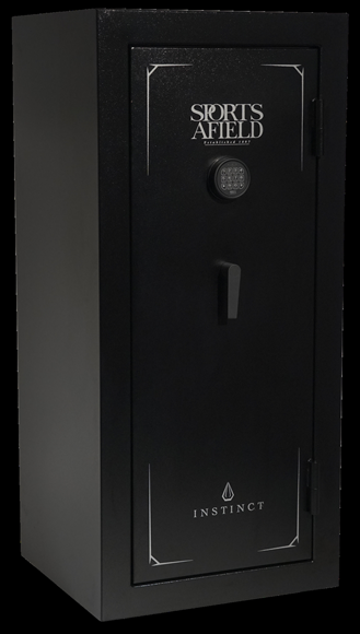 """Picture of Sports Afield Canadian Shield Granite Gun Safes - SA-5525INS-BD, 24 Gun, 55.00"""" H x 25.00"""" W x 22.75"""" D, Electronic Lock, Adjustable Shelves, Fire Rated: 30 Mins @ 1400 F, Black Finish"""