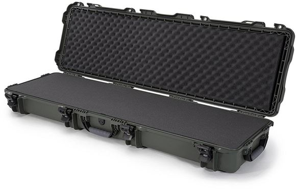 """Picture of Nanuk Professional Protective Cases - 995 Double Rifle Case, Foam, Waterproof & Impact Resistant, 52"""" x 14.5"""" x 6"""", Olive"""