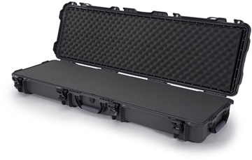 """Picture of Nanuk Professional Protective Cases - 995 Double Rifle Case, Foam, Waterproof & Impact Resistant, 52"""" x 14.5"""" x 6"""", Graphite"""