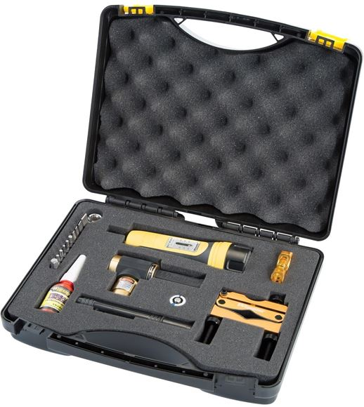 Picture of Wheeler Engineering Gunsmithing Supplies Screwdriver Sets - Ultra Scope Mounting Kit, Includes: Reticle Leveling System & Bore Sighter, F.A.T. Wrench, 9 Bits & Sockets, Thread Locker, Lens Pens