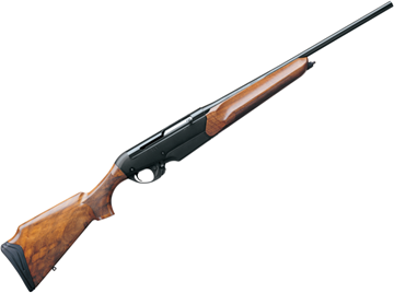 """Picture of Benelli R1 Big Game Semi-Auto Rifle - 30-06 Sprg, 22"""", Gloss Blued, Anodized Black, AA Walnut ComforTech Stock, 4rds"""
