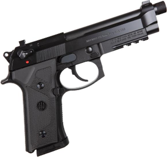 "Picture of Beretta M9A3 DA/SA Semi-Auto Pistol - 9mm Luger, 5"", 1/2""x28 Threaded w/Protector, Black, Steel Slide & Alloy Frame w/3-Slot Picatinny Rail, Vertec-Style Thin Grip"
