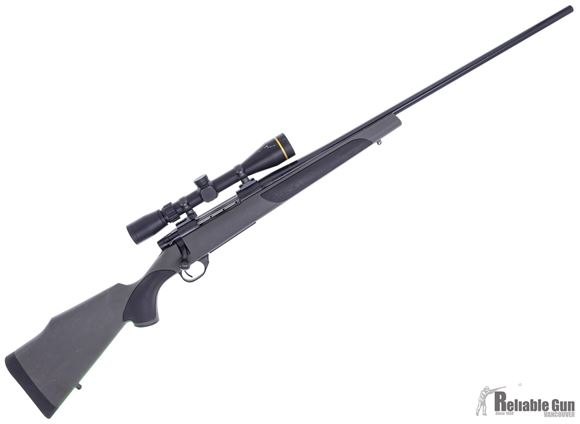 "Picture of Used Weatherby Vanguard Bolt-Action 300 Win Mag, 26"" Barrel, With Leupold VX Freedom 3-9x40mm, Big Scratch on Scope, Other Scuffs on Gun, Mechanically Good Condition"