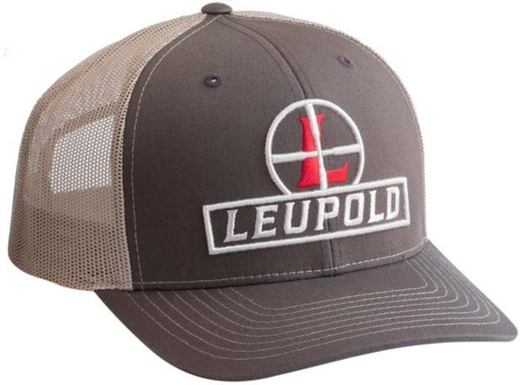 Picture of Leupold Accessories, Clothing & Hats - Reticle Logo, Snap Back, Brown & Tan, Mesh, One Size Fits All