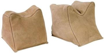 Picture of Champion Shooting Gear, Shooting Rest, Bench Rest - Front & Rear Sandbag, Tan Suede Leather